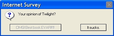 An Internet Survey : Your opinion on Twilight