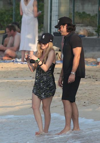 Avril at beach!