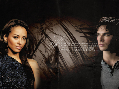 The Vampire Diaries Couples 壁纸 entitled D/B 壁纸
