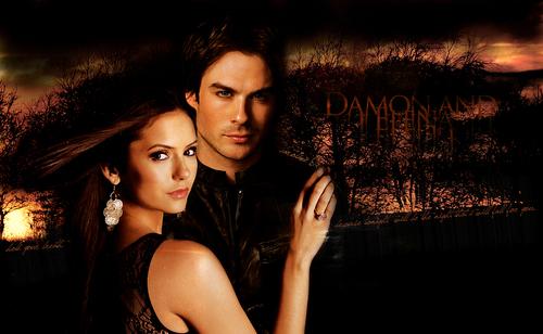 Damon&Elena; sunburn.