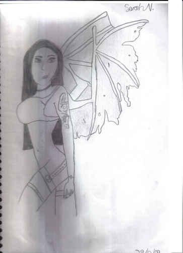 Drawing वॉलपेपर entitled Evil Dragon Fairy