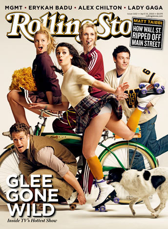 glee Cover 'Rolling Stone' Magazine (April 2010)