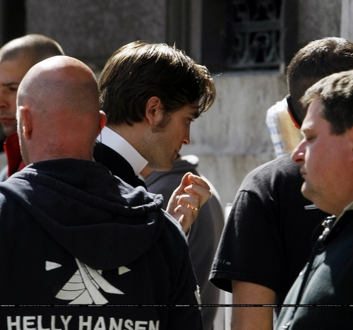 HQ Pics of Rob on the Set of Bel Ami on 03/30/10