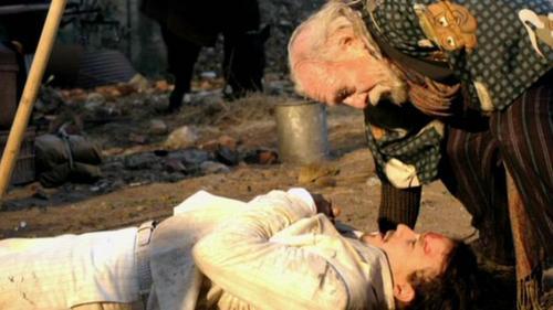 Heath, behind scenes of Doctor Parnassus