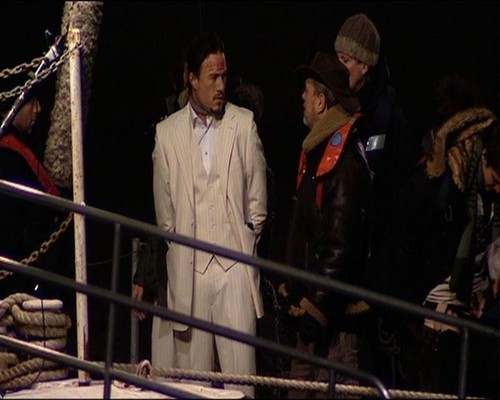 Heath, behind scenes