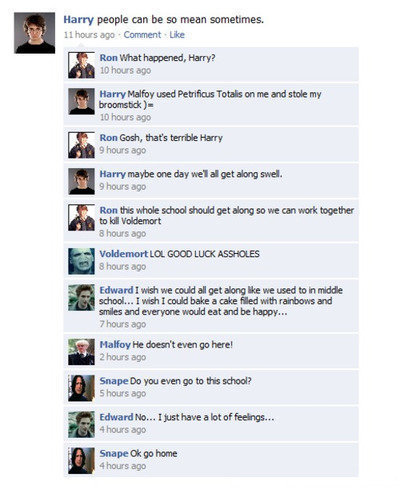 Fashion Games Facebook on Harry Potter Facebook Conversations