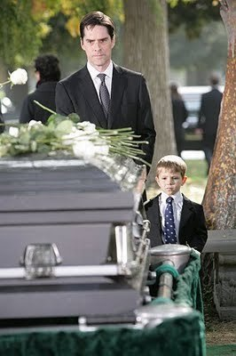 Jack & Hotch at Haley's Funeral