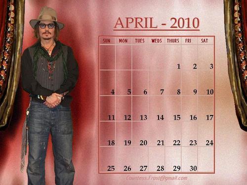 Johnny - April 2010 (calendar)