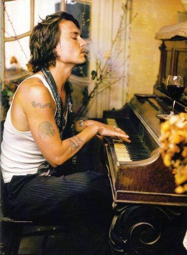 Johnny depp smoking wallpaper