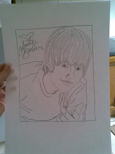 Justin Bieber Quick drawing