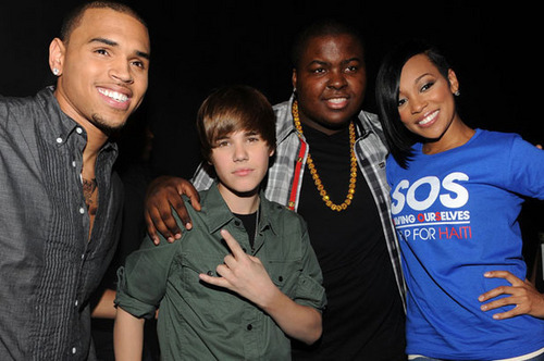 Justin Bieber ,Sean Kingston and Chris Brown