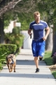 Kellan Lutz with his Dog Kola