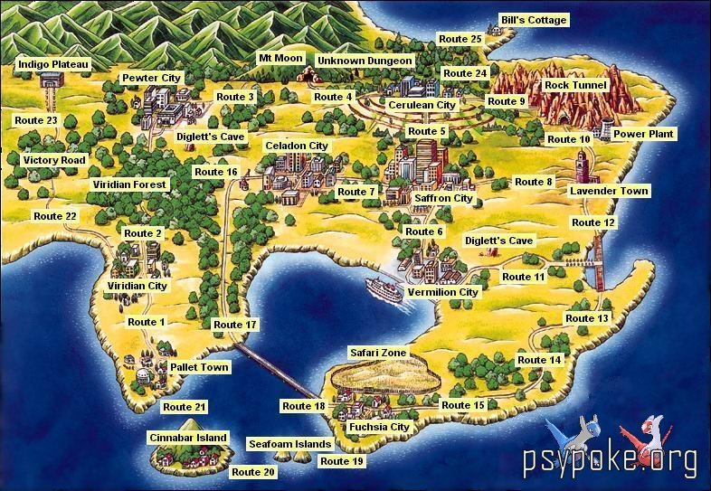 Pokémon images Map of Kanto HD wallpaper and background photos ...