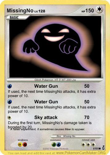 MissingNo's PKMN Card