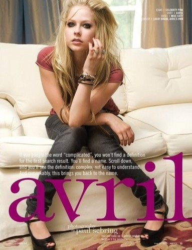 New Avril Magazine Cover