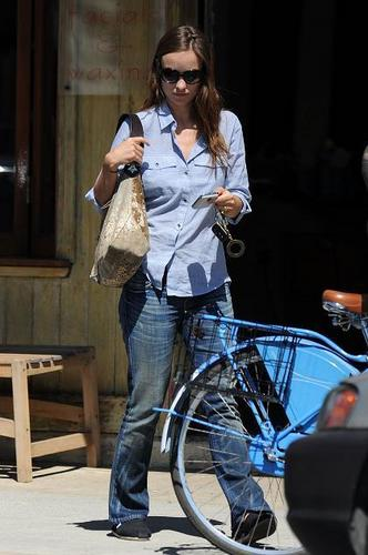 Olivia Wilde Out Riding Her Bike, March 17