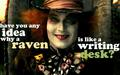 Ravens & Writing Desks - alice-in-wonderland-2010 wallpaper