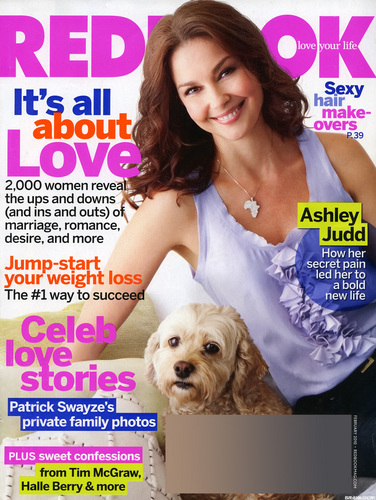 Redbook Cover with Ashley Judd from February 2010