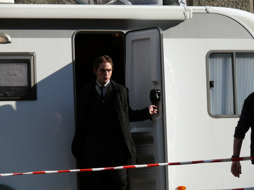 Rob on Bel Ami set today