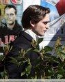 Rob on set of Bel Ami  - twilight-series photo