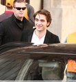 Rob on set of Bel Ami  - twilight-series photo