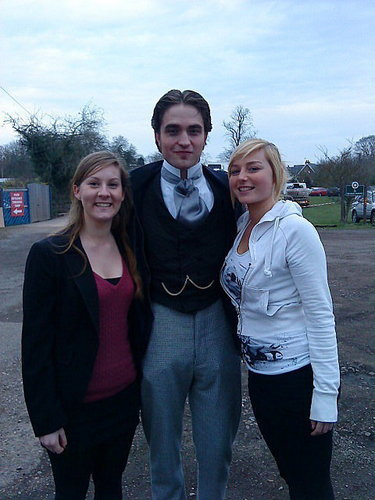 "Robert Pattinson On ""Bel Ami"" Set In Budapest"