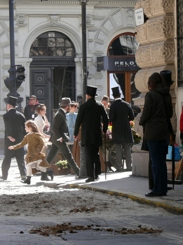 Robert Pattinson On The Set Of 'Bel Ami'