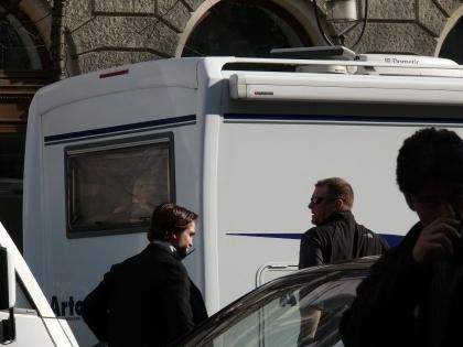 Robert Pattinson On The Set Of 'Bel Ami'