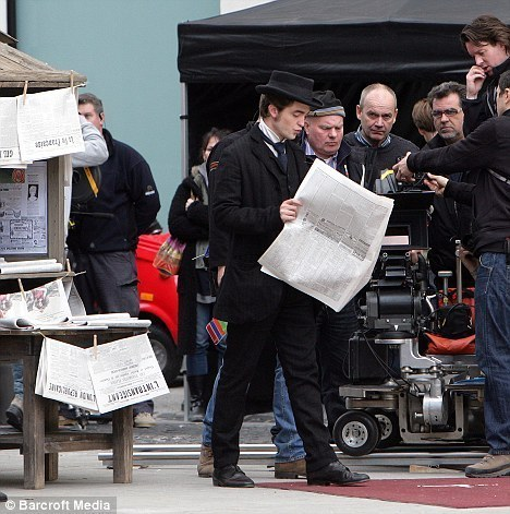 Robert on the set of Bel Ami