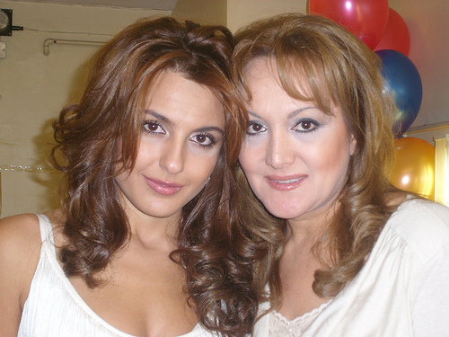Sirusho with her mother