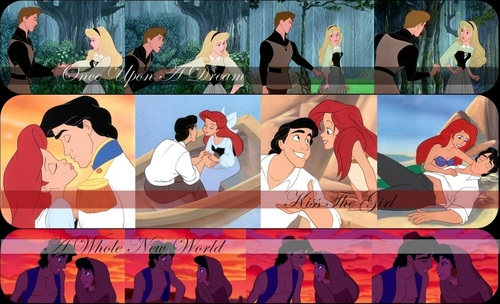 Disney Couples wallpaper entitled Sleeping Beauty - The Little Mermaid- Aladdin