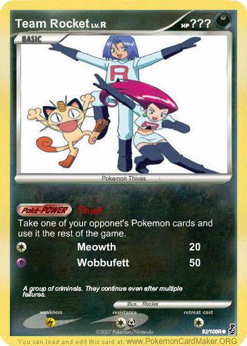 Team Rocket's Card