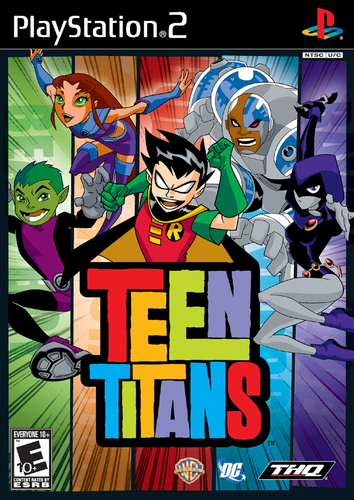 Teen Titans Video Game Cover