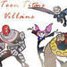 Teen Titans Villains Icon - teen-titans-villans icon