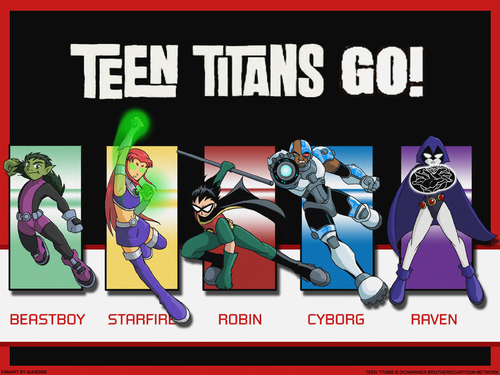 Teen Titans kertas dinding called Teen Titans