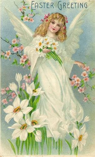 Victorian Easter ángel
