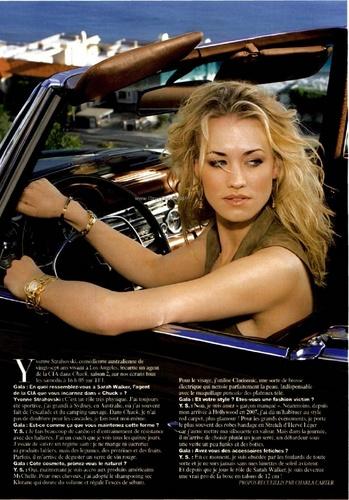 Yvonne Strahovski in the April 2010 Issue of Gala Magazine (France)
