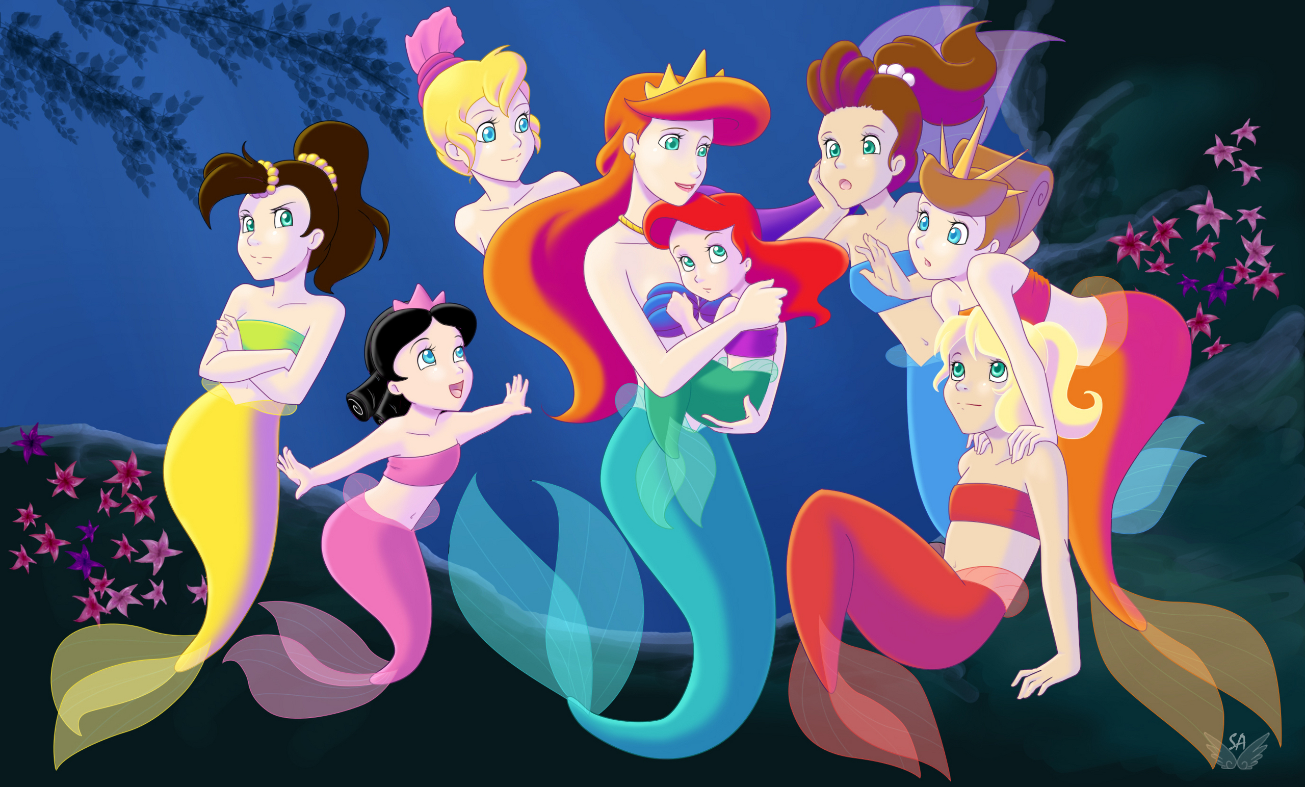 Ariel's Sisters Cartoon Disney