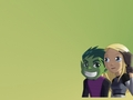 beast boy and terra - teen-titans wallpaper