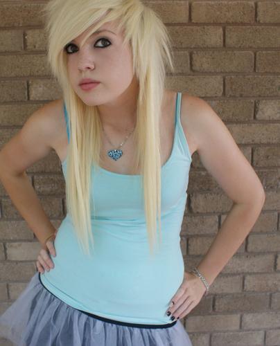 Excellent Emo Amp Scene Hairstyles Images Blonde Scene Girl Hd Wallpaper And Short Hairstyles For Black Women Fulllsitofus