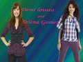 demi and selena pic by pearl - selena-gomez-and-demi-lovato wallpaper