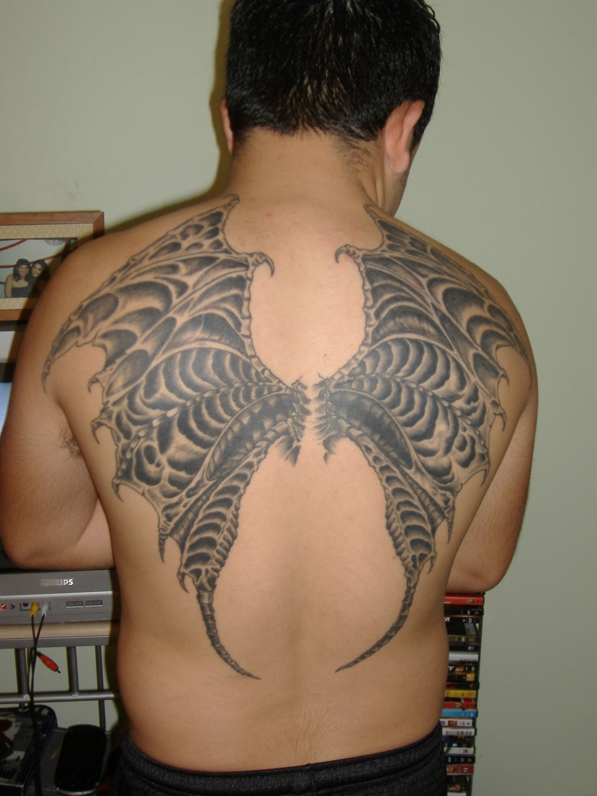 Wing Tattoo Finished By Icarus
