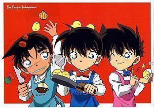 kaito, shinichi and heiji