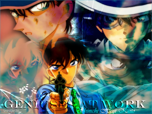 Kaitou Kid images kaito, shinichi and heiji HD wallpaper and background photos