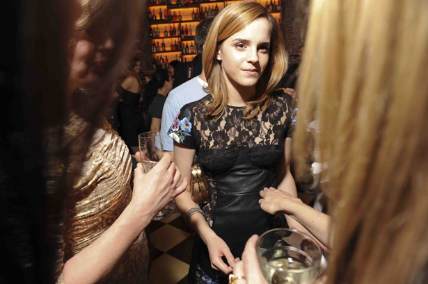 Emma Watson London Show Rooms New York Cocktail Party
