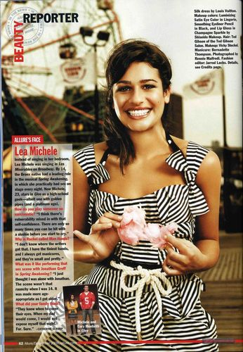 Lea Michele karatasi la kupamba ukuta called Allure Magazine - December 2009
