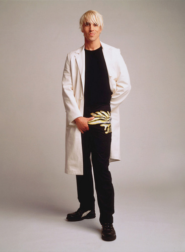 Anthony kiedis raincoat white