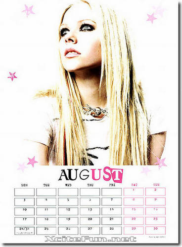 Avril Calendar image set