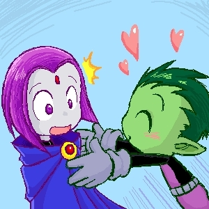 Beast Boy and Raven