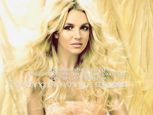 Britney Blur Wallpaper